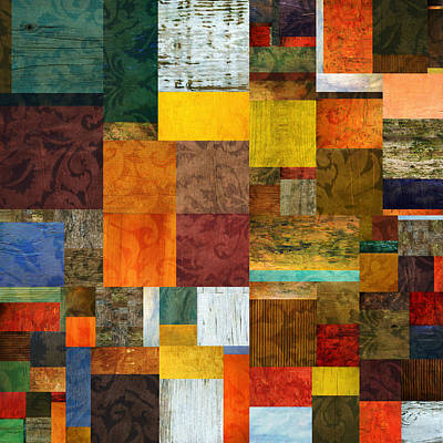 Digital Art - Brocade Color Collage 1.0 by Michelle Calkins