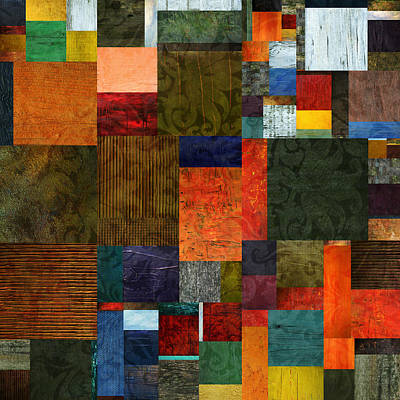 Digital Art - Brocade Color Collage 3.0 by Michelle Calkins