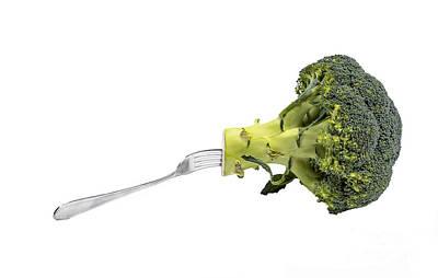 Broccoli Is Healthy Food Art Print by Patricia Hofmeester