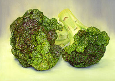 Broccoli Painting - Broccoli by Sarah Dowson