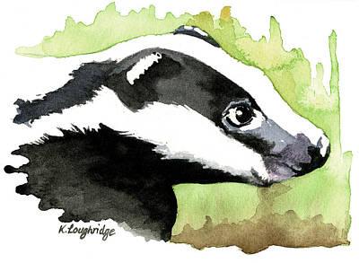 Brock Badger Art Print