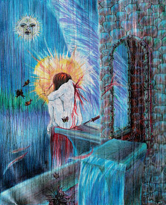 Religious Art Painting - Broken Angel by Kd Neeley