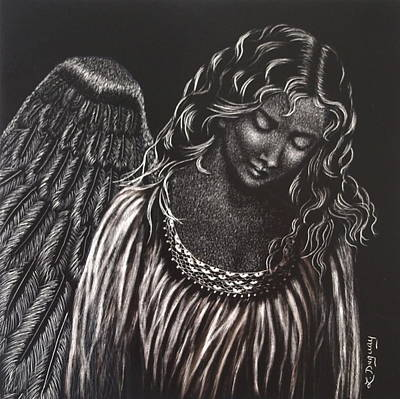 Drawing - Broken Angel by Lora Duguay