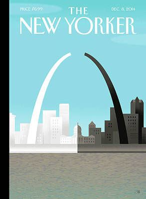 Police Painting - Broken Arch. A Scene From St. Louis by Bob Staake