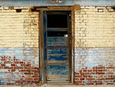 Photograph - Broken Blue Door  by Ethna Gillespie