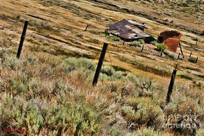 Photograph - Broken Bodie Fence by Blake Richards