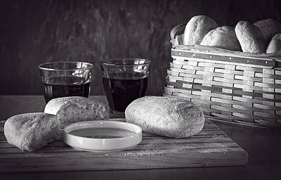 Photograph - Broken Bread Bw by Wayne Meyer