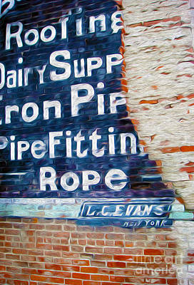 Painting - Broken Brick Sign by Gregory Dyer