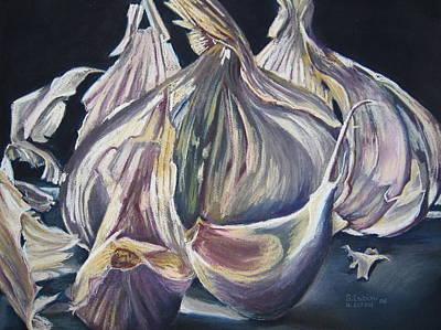 Pastel - Broken Bulb by Outre Art  Natalie Eisen