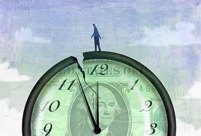 Bad Economy Digital Art - Broken Clock by Steve Dininno