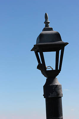 Photograph - Broken Dock Light by Mary Bedy