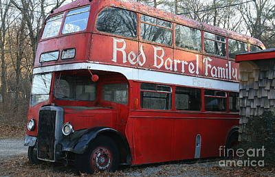 Photograph - Broken Down Double Decker by Neal Eslinger