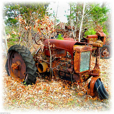 Digital Art - Broken Down Old Tractor by K Scott Teeters