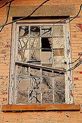 Cabin Window Photograph - Broken Dreams by Frozen in Time Fine Art Photography