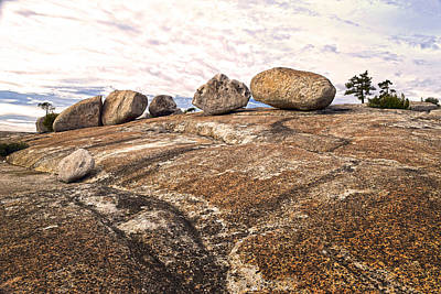 Photograph - Broken Glacial Erratics by Frank Wilson