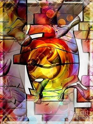 Broken Glass By Nico Bielow Art Print by Nico Bielow