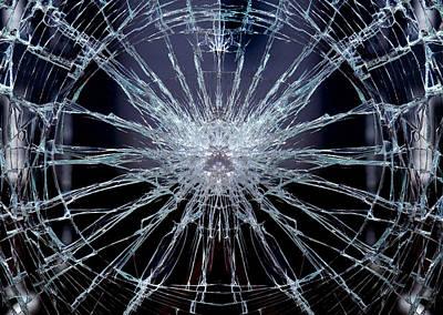 Broken Digital Art - Broken Glass by Gina Dsgn