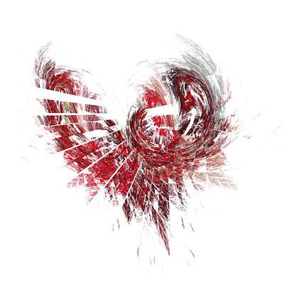 Heart Digital Art - Broken Heart by Mark Bowden