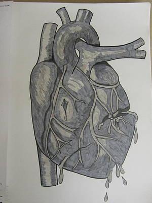 Broken Heart Art Print by Rosanne Bartlett
