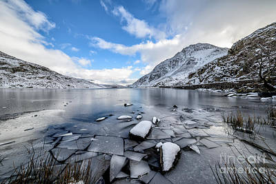Dry Lake Photograph - Broken Ice by Adrian Evans
