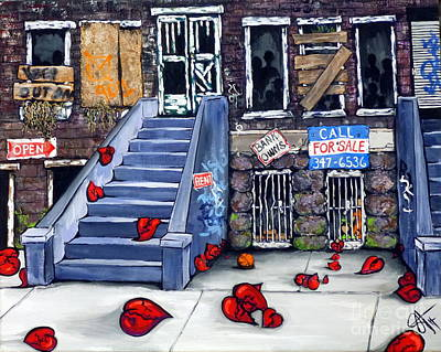 Handicapped Painting - Broken Blvd. by Jackie Carpenter