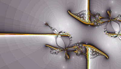 Digital Art - Broken Jewelry-fractal Art by Lourry Legarde