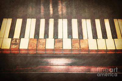 Broken Keys  Art Print
