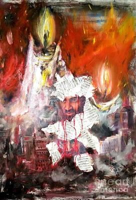 Osama Bin Laden Painting - Broken Lives by Irene Pomirchy