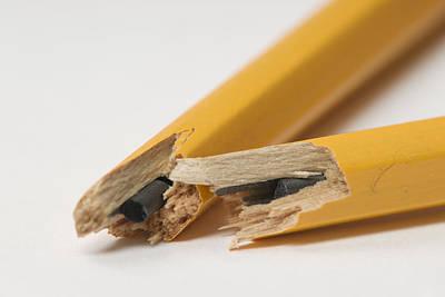 Ball Pen Work Photograph - Broken Pencil by Donald  Erickson