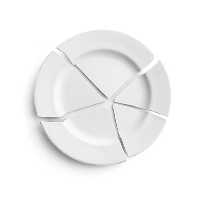 Broken Plate Art Print by Science Photo Library