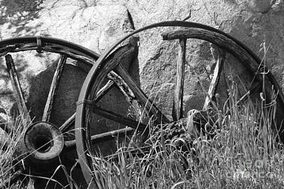 Photograph - Broken Rims by Mary Mikawoz