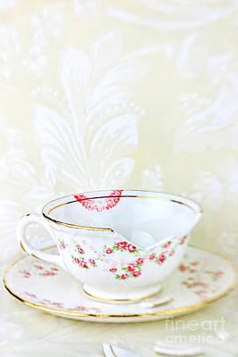Broken Teacup Art Print by Stephanie Frey