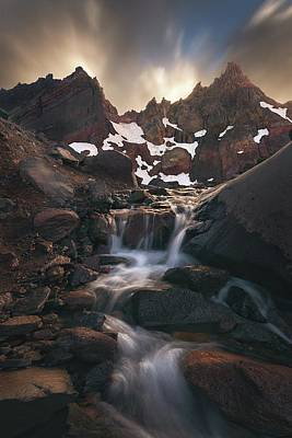 Mountain Stream Wall Art - Photograph - Broken Top Outflow by Steve Schwindt