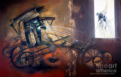 Abstracted Figuration Painting - Broken Toy by Nelson Madero