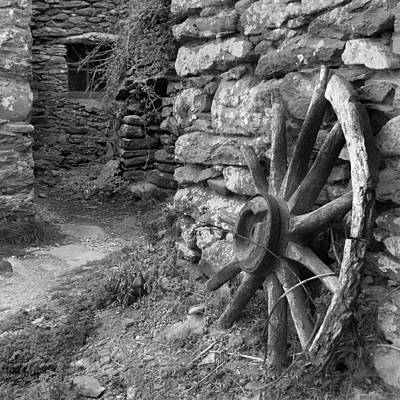 Stone Buildings Digital Art - Broken Wheel - Ireland by Mike McGlothlen