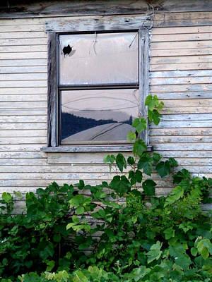 Photograph - Broken Window by Everett Bowers