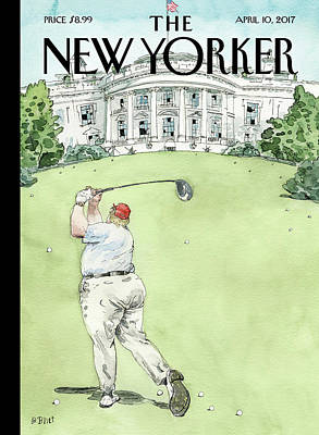 President Painting - Broken Windows by Barry Blitt
