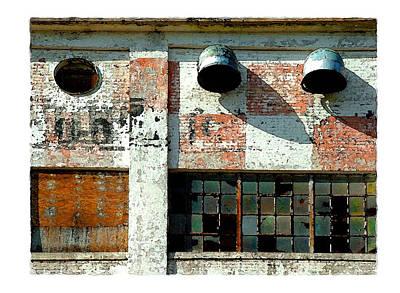 Feed Mill Digital Art - Broken Windows by Brenda Leedy