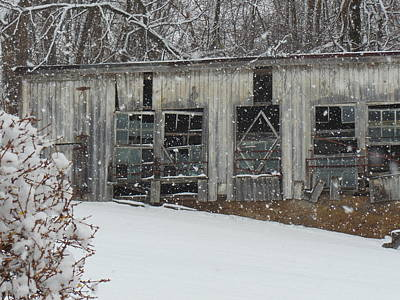 Photograph - Broken Windows In The Snow by Sharon Costa