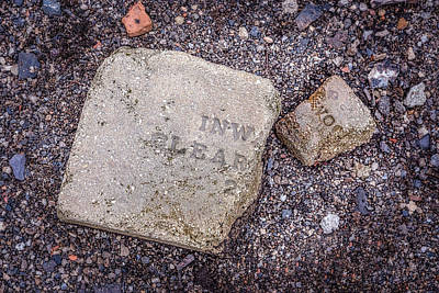 Photograph - Broken Words On A Pebble Beach by Chris Bordeleau