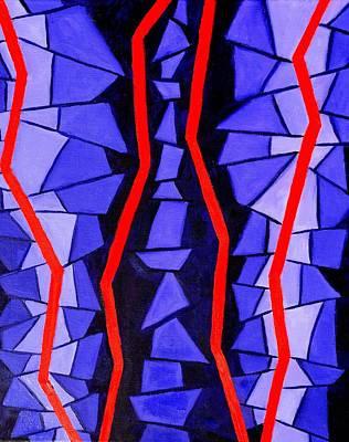Shards Painting - Broken by Zikraun