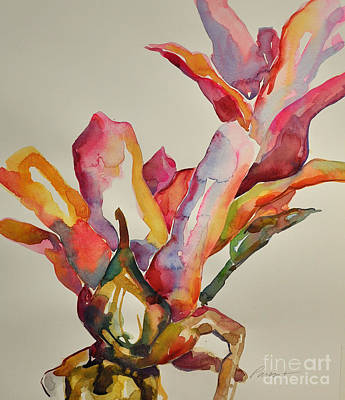 Painting - Bromeliad #4 by Roger Parent