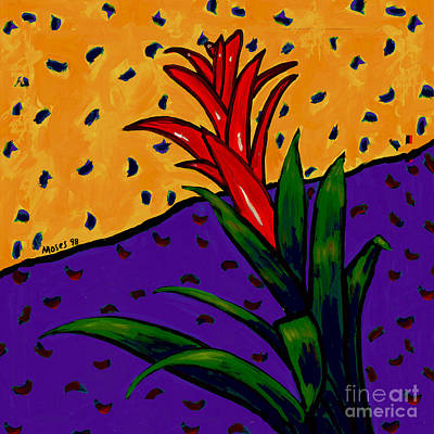 Bromeliad Painting - Bromeliad by Dale Moses