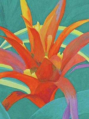 Painting - Bromeliad Glow by Margaret Saheed