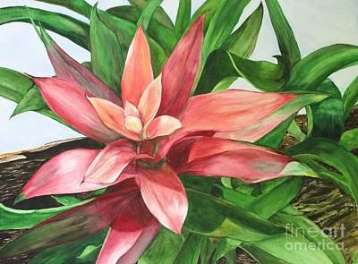 Painting - Bromeliad by Kyong Burke
