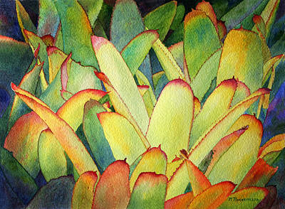 Painting - Bromeliads I by Roger Rockefeller