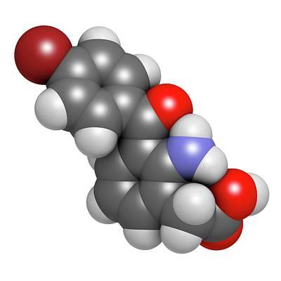 Bromfenac Nsaid Eye Drop Drug Molecule Art Print by Molekuul