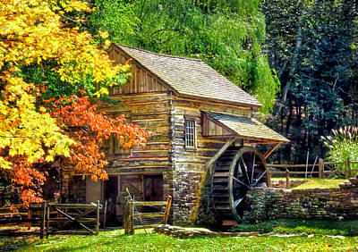 Bromley Mill At Cuttalossa Farm Art Print by Carolyn Derstine