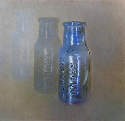 Photograph - Bromo Caffeine Bottles by Angie Vogel