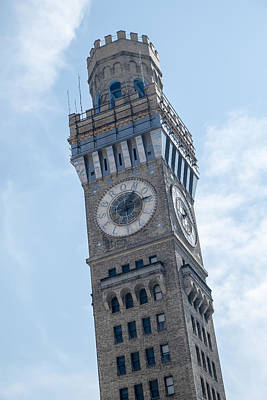 Photograph - Bromo Seltzer Clock Tower by Susan Candelario